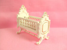 Hansson Miniature 1:24 - Cradle - White with gold