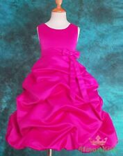 Hot Pink Wedding Flower Girl Flowergirl  Dress Size 12
