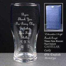 Personalised Godfather / Birthday / Wedding / Fathers Day Gift, Tulip Pint Glass