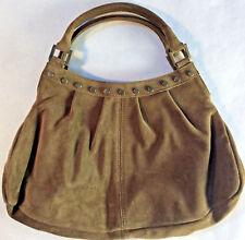 TANNER Italy Brown Suede Tote Handbag Bag Purse