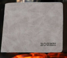 Mens luxury leather wallet in Grey / Bogesi / Uk shop fast dispatch & delivery