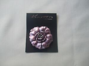 Heather Metallic Enamel Colour Round Flower Scarf Clip New