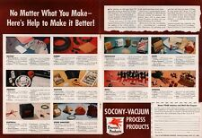 1947 Socony-Vacuum Products Ceramics Farming Metal Packaging 2 Page Print Ad