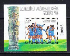 Hungary 1986 MNH Mi Block 183 Sc 2958 World Cup Soccer Championships,Mexico