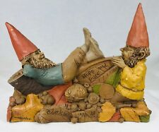 """Signed Tom Clark Gnome Huff & Puff #5028 Edition #18 Cairn Studios 6 x 7.5"""" Htf"""