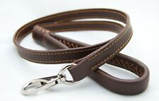 PEARL LEATHER DOG LEASH - SMOOTH AND LUXURIOUS FEEL