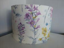 Laura Ashley Wild Meadow Flowers Fabric Ceiling Drum Lampshade ~ 30cm Diameter
