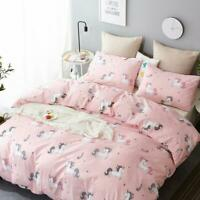3D Unicorn Pink Bedding Set Duvet Cover Comforter Cover Pillow Case
