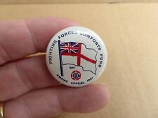 WW11 AUSTRALIAN FIGHTING FORCES COMFORTS FUND NAVY 1941 F.F.C.F BUTTON DAY BADGE