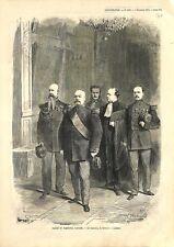 Procès Maréchal François Achille Bazaine Grand Trianon Versailles GRAVURE 1873
