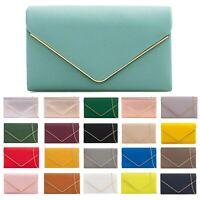 Women Faux Leather Clutch Bag Ladies Evening Party Shoulder Bags New