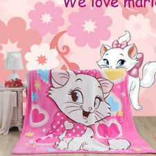 Marie cat pattern coral fleece blankets on bed towel Air condition Sleep cover