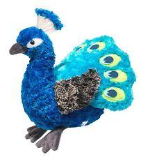 "Douglas Pavo PEACOCK 10"" Plush Stuffed Sitting Bird Cuddle Toy NEW"