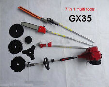 Lawn Mower 7 in 1 Multi Tools GX35 4-stroke brush cutter chain saw hedge trimmer