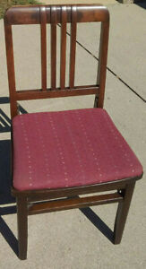 Vintage Solid Wood Louis Rastetter & Sons Solid Kumfort Folding Chair #495