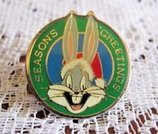 Bugs Bunny In Santa Hat Season's Greetings Christmas Hat Pin