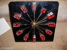 "Vtg ""ATLANTIC CITY"" New Jersey CASINO Clock with RED DICE for the Numbers SALE!!"