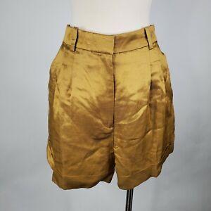 J Crew Drapey Short Satin Faced Linen Blend Womens 10 Shorts AM950