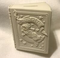 Dept. 56 Winter Tales of the Snowbabies Ceramic Bank Book by J. Frost no box