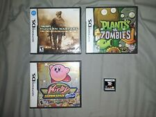 Nintendo DS Games Bundle Lot 3 Games 1 Case (Kirby, GTA, Call of Duty) + PC Game
