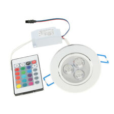 3W LED Ceiling Down Light Cabinet Recessed Spot Lamp Multicolor + IR Remote