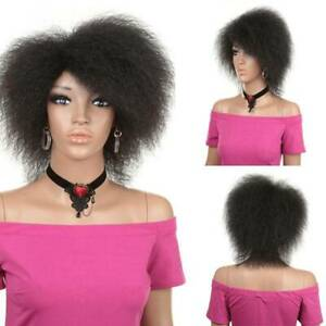 Stylish Hair Synthetic Short Kinky Curly Afro Wig Fluffy Wigs for African Women