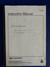 Edwards iQ Dry Pumping System Instruction Manual