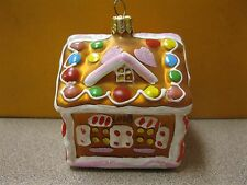 """Nordstrom at Home Glass Christmas Ornament """"GINGERBREAD HOUSE"""" FREE SHIPPING"""