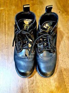 CAT Caterpillar Men's Black Leather Boots UK Size 6