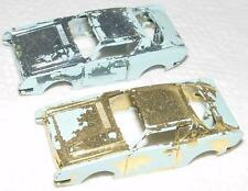 ATLAS HO SLOT CAR BODY LOT STUDEBAKER AVANTI CHROME PLATED BODIES GOLD & SILVER