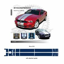 Ford Mustang 2010-2012 w/ Lip Spoiler Ralley Stripes Graphic Kit - Blue