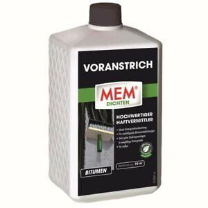 MEM Voranstrich dunkelbraun, 1 l  Haftvermittler   Bitumen   Kaltanstrich
