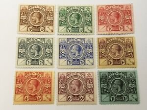 old stamps  BERMUDA  x  9 Tercentenary 2nd issue 1921