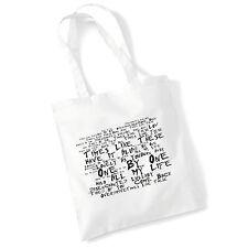 Art Studio Tote Bag FOO FIGHTERS Lyrics Print Album Poster Beach Shopper Gift