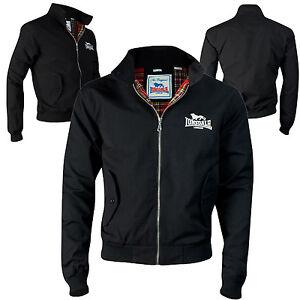 Lonsdale Harrington Jacket Black Classic England Style Slim-Fit Jacke Blouson