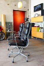 HERMAN MILLER EAMES ALUMINUM GROUP EXECUTIVE SOFT PAD CHAIR LEATHER (2 avail)