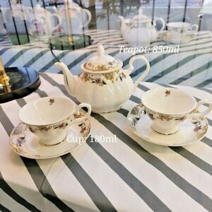 Bone China High Tea Set Cup Saucer Teapot High Tea Afternoon Tea Set