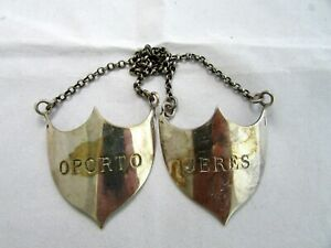ANTIQUE CHRISTOFLE FRANCE SILVERPLATE DECANTER HANGING LABEL TAG JERES OPORTO