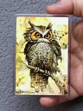 Vogel, Eule / Kühlschrank oder Office Magnet / Kunstdrucke Maße: 95x65mm Hahonin
