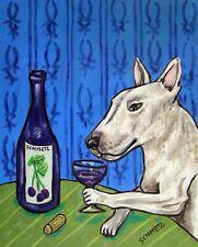 Bull terrier wine dog 8.5x11 glossy photo Print Jschmetz gift new