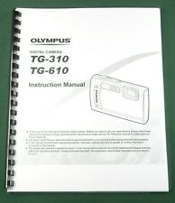 Olympus TG-310 / TG-610 Instruction Manual: 83 Pages & Protective Covers!