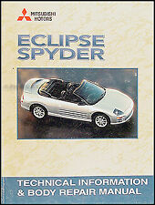 Mitsubishi Eclipse Spyder Body Shop Manual 2001 2002 2003 2004 2005 Convertible