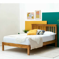 Farmhouse Style Solid Oak Wooden Bed Frame 4FT6 Double or 5FT King Size