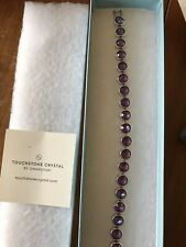 "💎Touchstone Crystal ~ Burgundy Ice Bracelet    7 1/4"" NEW 💎"