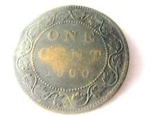 1900 CANADA - ONE CENT-VICTORIA DEI GRATIA REGINA  COIN ...#21.6/86*