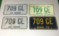 Vintage Rustic Ohio License Plates Lot !! 1969, 1972,1974