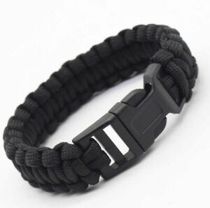 Paracord Survival Bracelet  Wristband  Rope Camping  Walking Climbing Outdoor