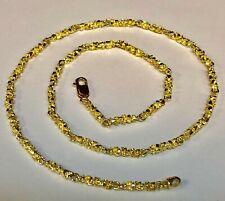 14kt oro sólido hecho a mano cadena/Collar de enlace Nugget 22 30 gramos 4 mm