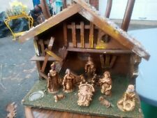 Christmas Nativity Set/1970S-1950S-Or Older/Gd.Condition/Won 00004000 T Relist