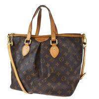Authentic LOUIS VUITTON Palermo PM 2Way Hand Bag Monogram Leather M40145 17MF642